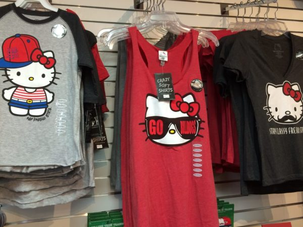 Fresno State-themed Hello Kitty shirts at Bulldog Fan Zone