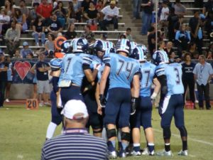 Bullard in offensive huddle