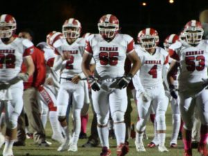 Andrew Quintero played Guard. Center, and Defensive End for Kerman. He played almost every snap.