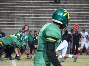 Roosevelt lined up on offense