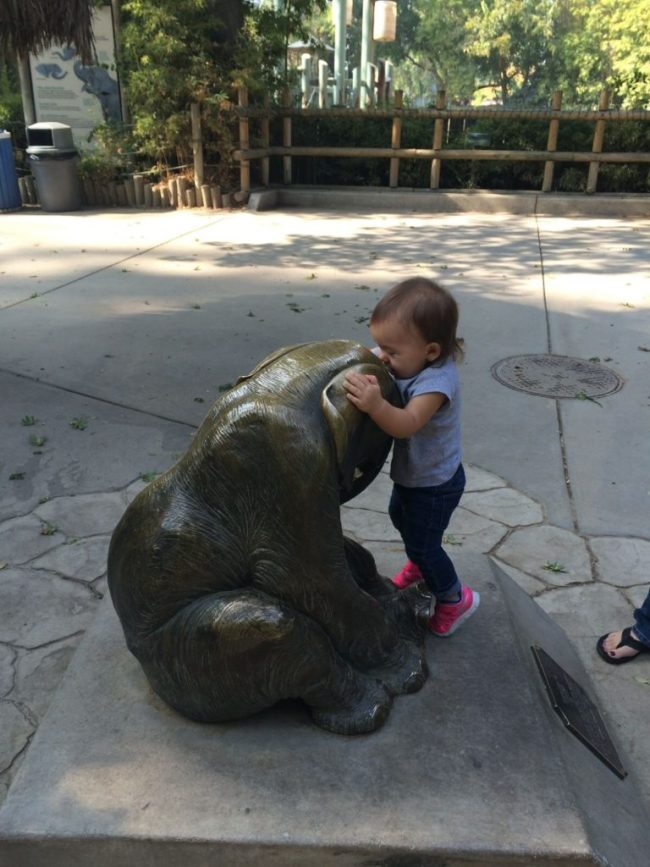 The zoo. My baby loving on the animals!!