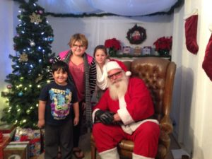 Santa at Zoo Lights