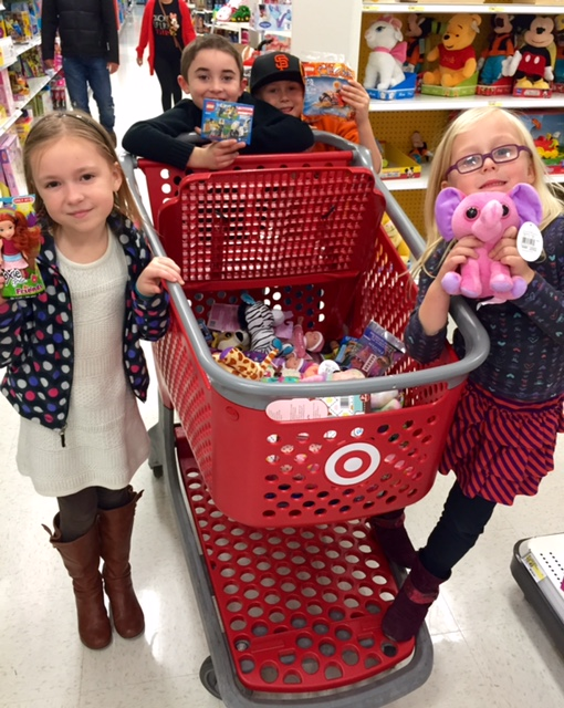 The Kind Kids Club shopping at Target
