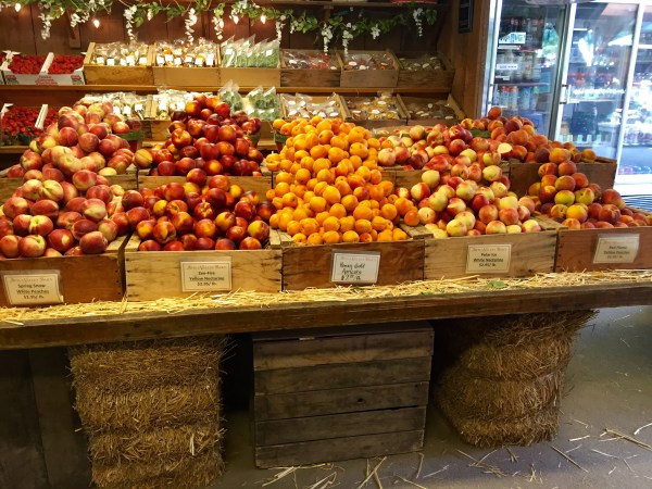 Fresh produce sold at the Avila Valley Barn