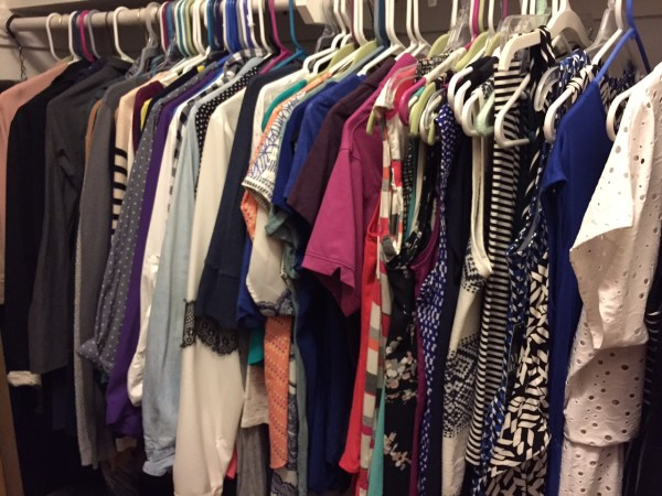 My closet post-decluttering frenzy. Yes, fewer items, but all items I actually love!