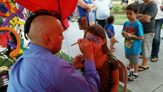 Face Painting at the Farmer's Market