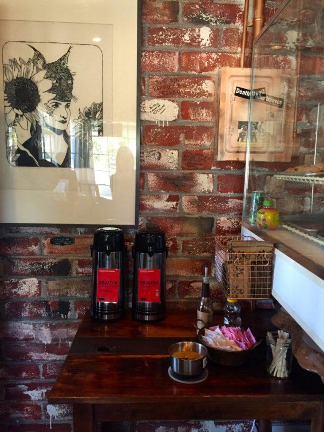 Cafe Van Ness condiment bar