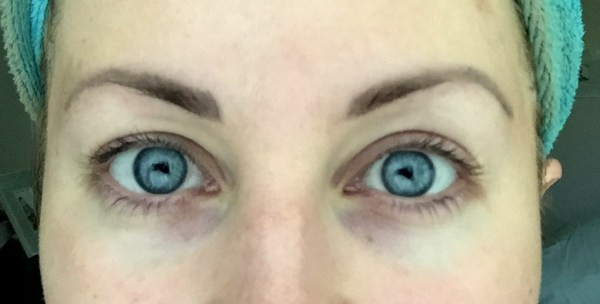 Brows, fully healed, with no other makeup on.