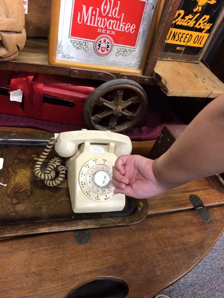 How many of your kids would know what this is?! My daughter thought it was pretty cool. I had to share that if you had one of these phones, and if you had a phone number with an 8, 9, or 0, you pretty much dreaded those phone calls. At least I did because it took forever!