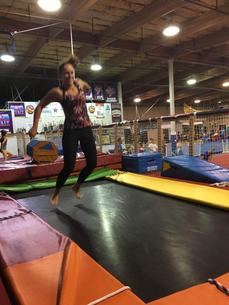 Trampoline at Gymnastics Beat