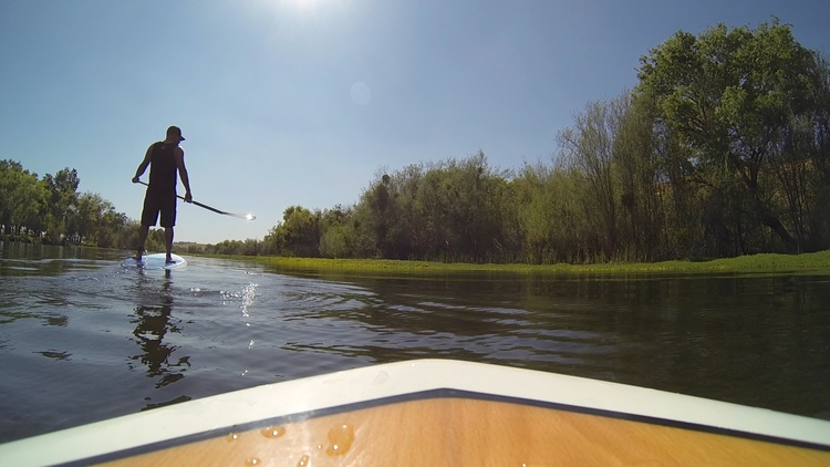 Lance Anderson SUP'ing Lost Lake