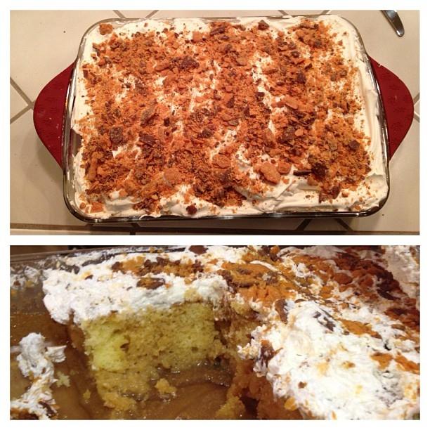 My favorite Butterfinger cake!