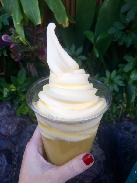Dole Whip outside of the Tiki Room
