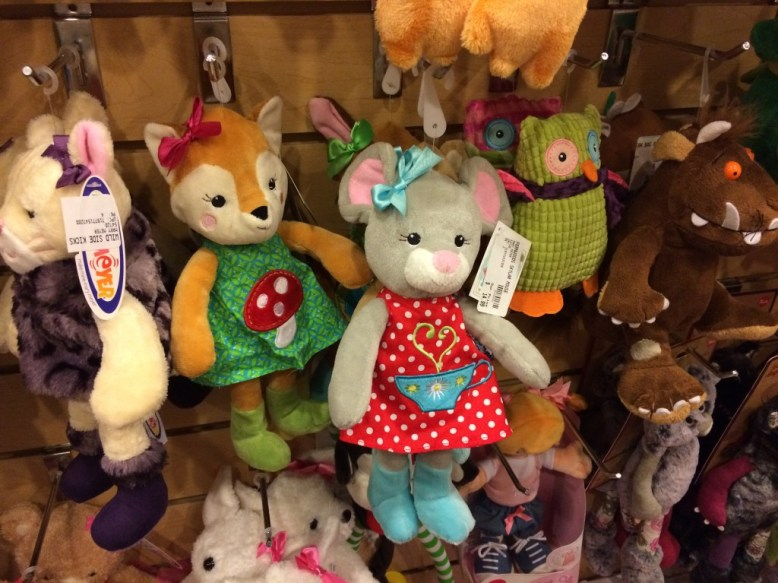 stuffed animals at Professor Toy in the Villagio Shopping Center
