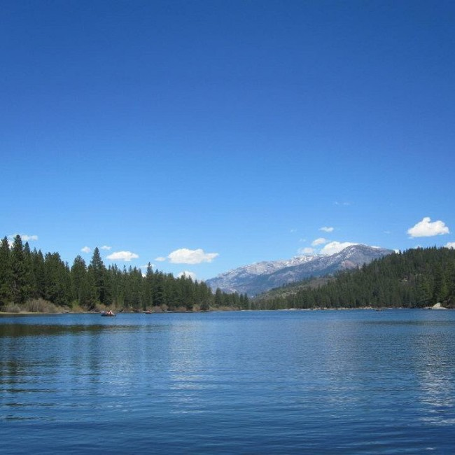 The view from Hume Lake.