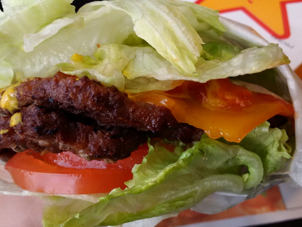 Carl's Junior All Natural Burger Wrapped in Lettuce