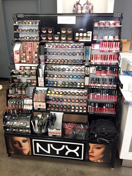 Fully-stocked jumbo NYX display - YES!