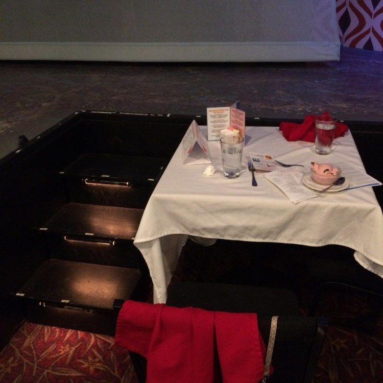 Our dinner table at Roger Rockas' Dinner Theater