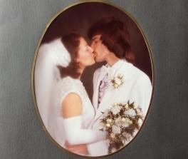 Deborah and Leo's wedding photo from March 6, 1976