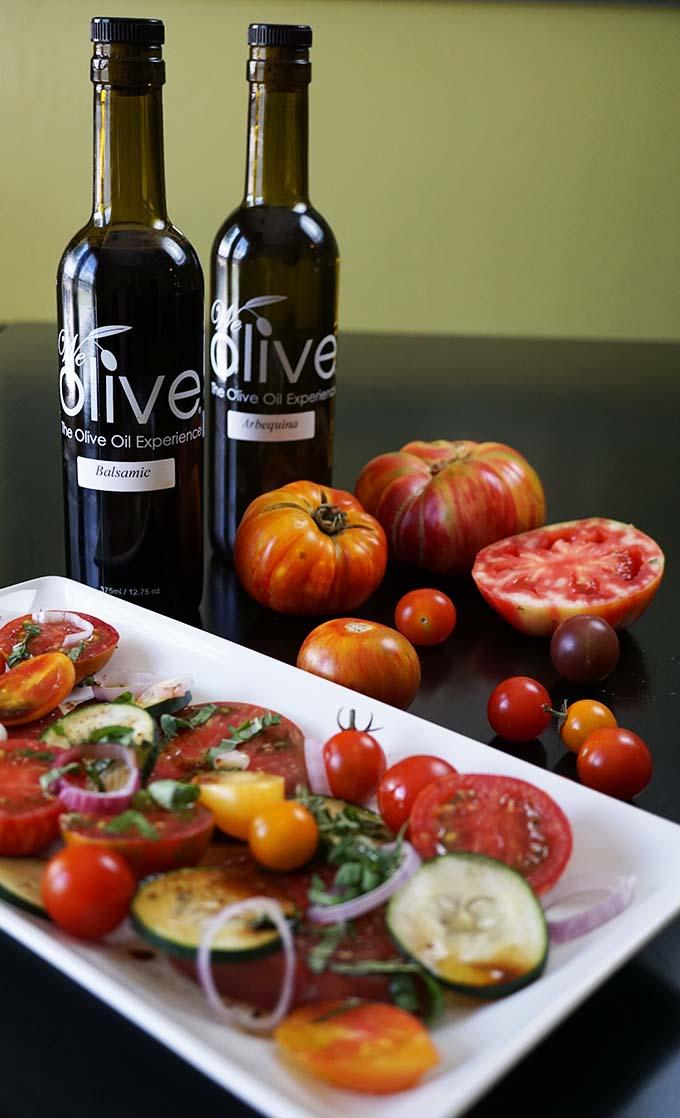 Heirloom Tomato Salad with We Olive