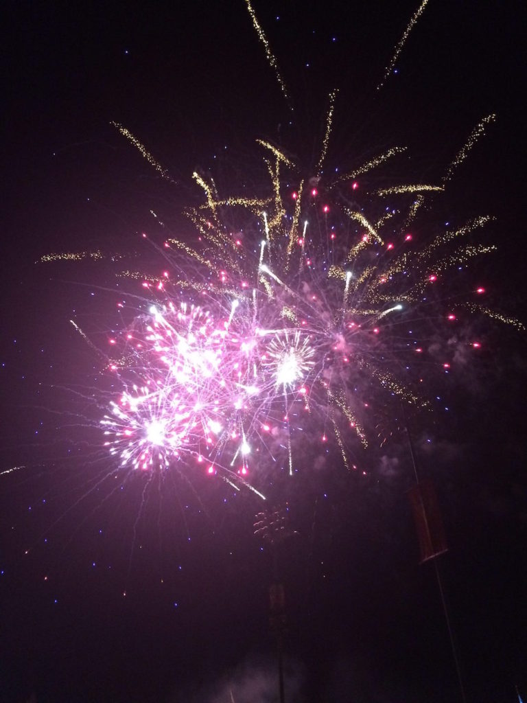 Fireworks after the Grizzly Game