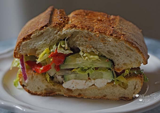 Stuffed Greek Sandwich