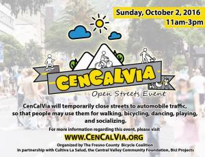 First Ever Local Ciclovia: CenCalVia! Sunday, October 2nd