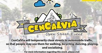 First Ever Local Ciclovia: CenCalVia! Sunday, October 2nd