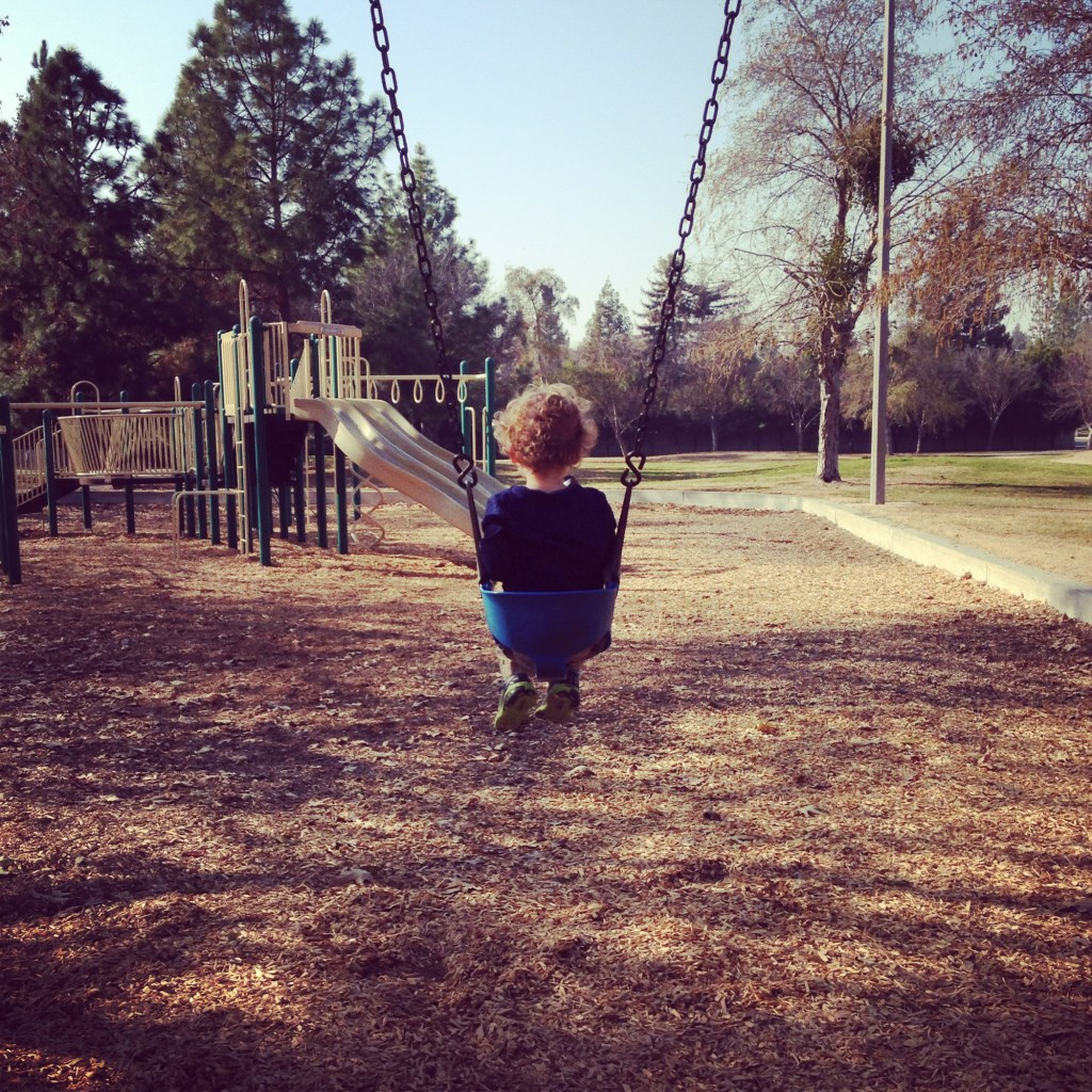 swinging at Keith Tice Park