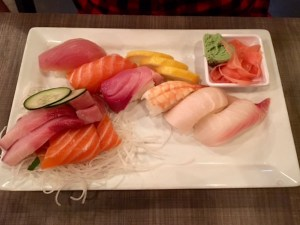 KuniSama: Fried rice for me, sushi for him, great food for all