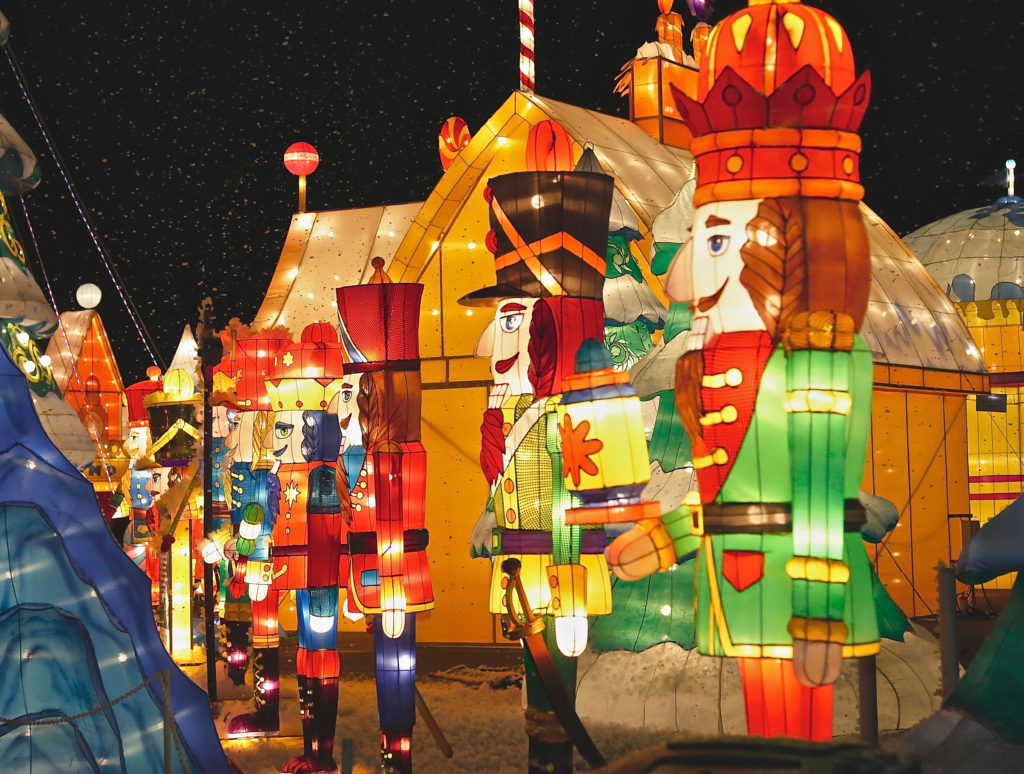 some of the attractions at Global Winter Wonderland in Tulare