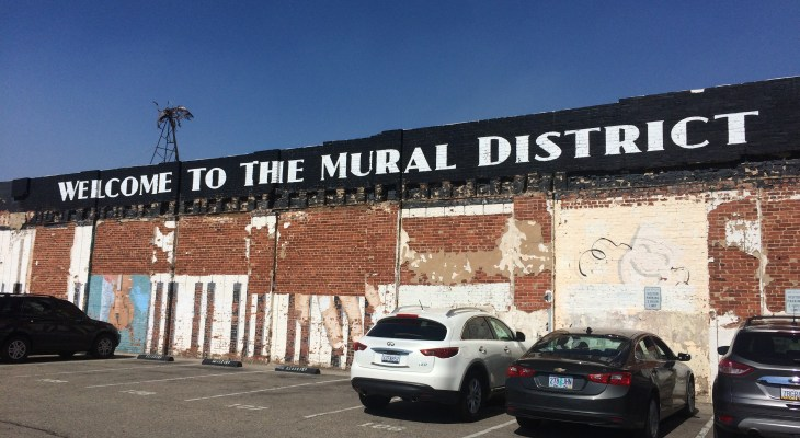 The Mural District's Broadway Studios Has Art Inside & Out