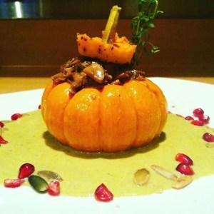 eat a pumpkin