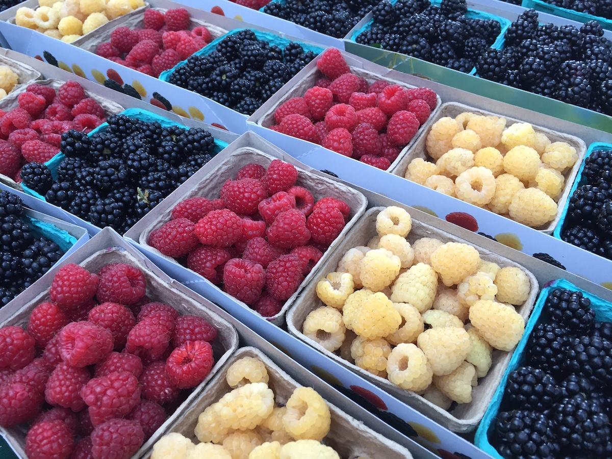 Fresh Berries for sale at a Farmers Market