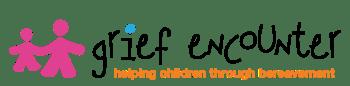 "Logo text: ""Grief Encounter: helping children through bereavement"""