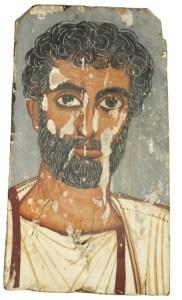 Fayum mummy portrait of man with beard, c.250 AD – 300 AD