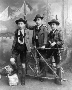 Ernst, Jean Martin and Oliver Freud c1900