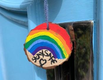 Freud Museum Front Door Rainbow