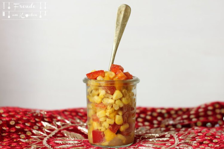 Indischer Mais Snack - Spicy Corn Chaat - Freude am Kochen vegan