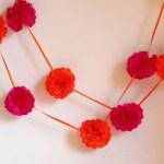 Girlanden für den Sweet-Table -DIY