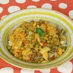Indisches Kraut Kartoffel Erbsen-Gemüse – Aloo Bandh