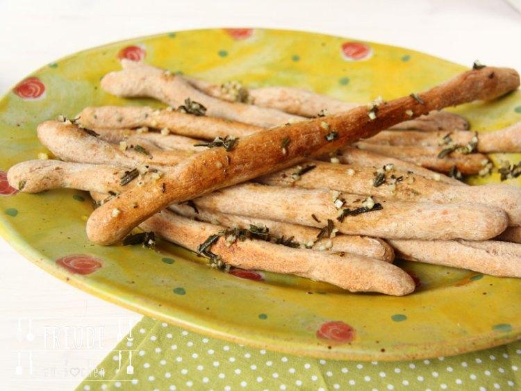 Pizzastangen mit Knoblauch Olivenöl - Freude am Kochen vegan