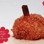 Bratapfel mit Walnuss-Zimt-Kruste auf Kokos-Sauce