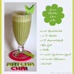 Green Matcha Chai Latte Shake
