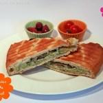 Ofen-Gemüse Pesto-Tofu Sandwich-Toast