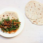 Wrap Teig selbermachen – Wraps mit Lupinen & Champignons