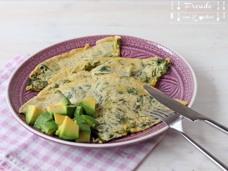 Bärlauch Kichererbsen Omelette vegan - Freude am Kochen