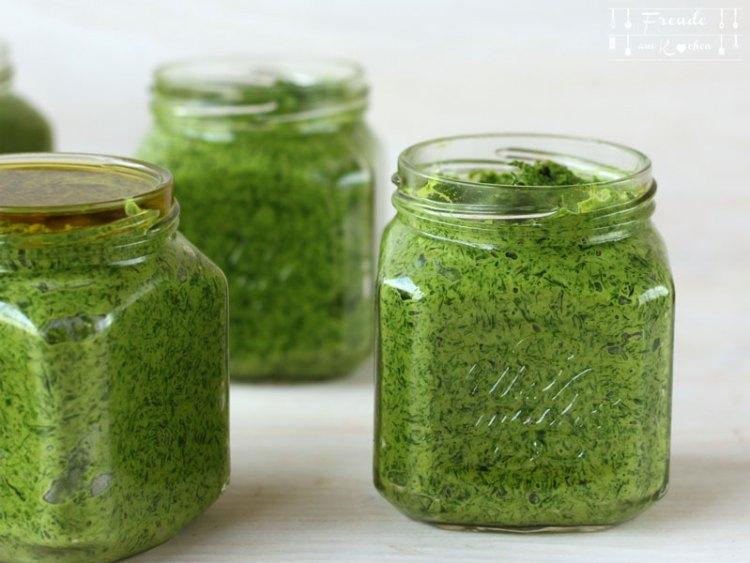 3 Varianten Bärlauch Pesto vegan Thermomix - Freude am Kochen
