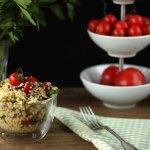 Bunter sommerlicher Hirse-Salat vegan