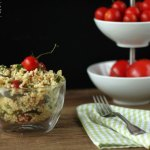 Zucchini Hirse Salat mit Zitronen-Olivenöl